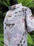 1950's Angel fish print cotton beach cover-up **sold *